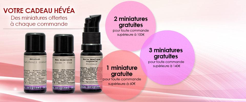4388f982dc4 Votre cadeau HÉVÉA. Des miniatures offertes à chaque commande!